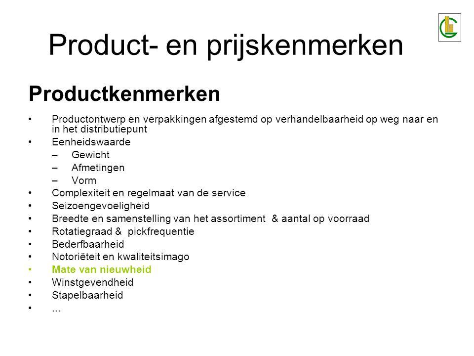 Product- en prijskenmerken