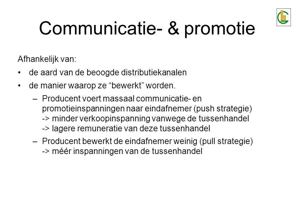 Communicatie- & promotie