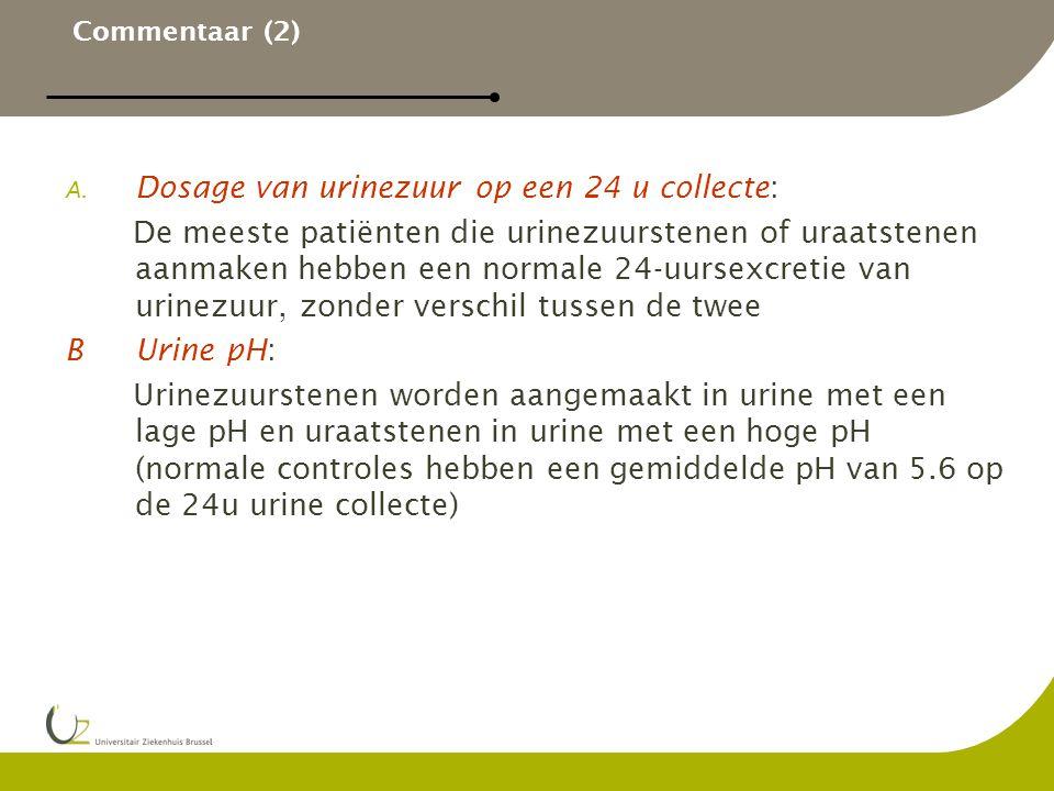 Dosage van urinezuur op een 24 u collecte: