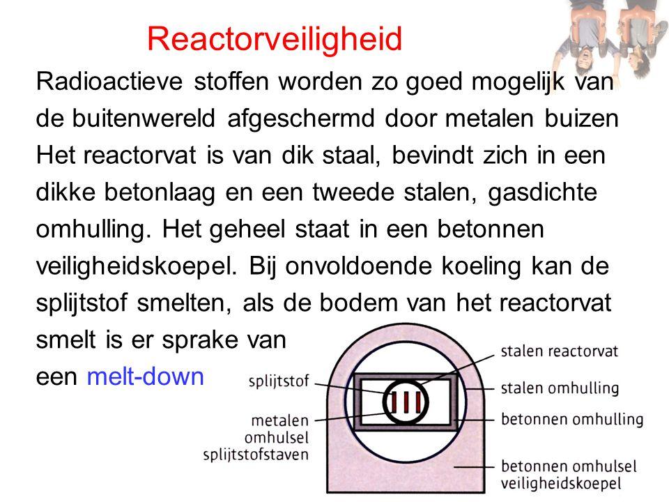 Reactorveiligheid Radioactieve stoffen worden zo goed mogelijk van
