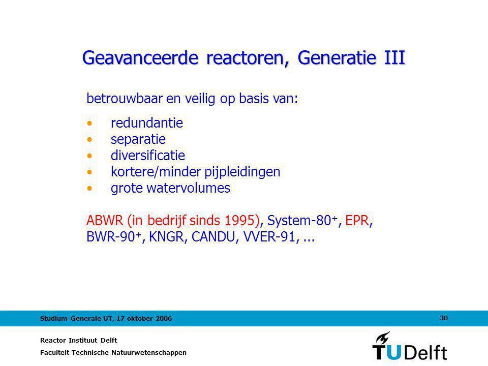 Geavanceerde reactoren, Generatie III
