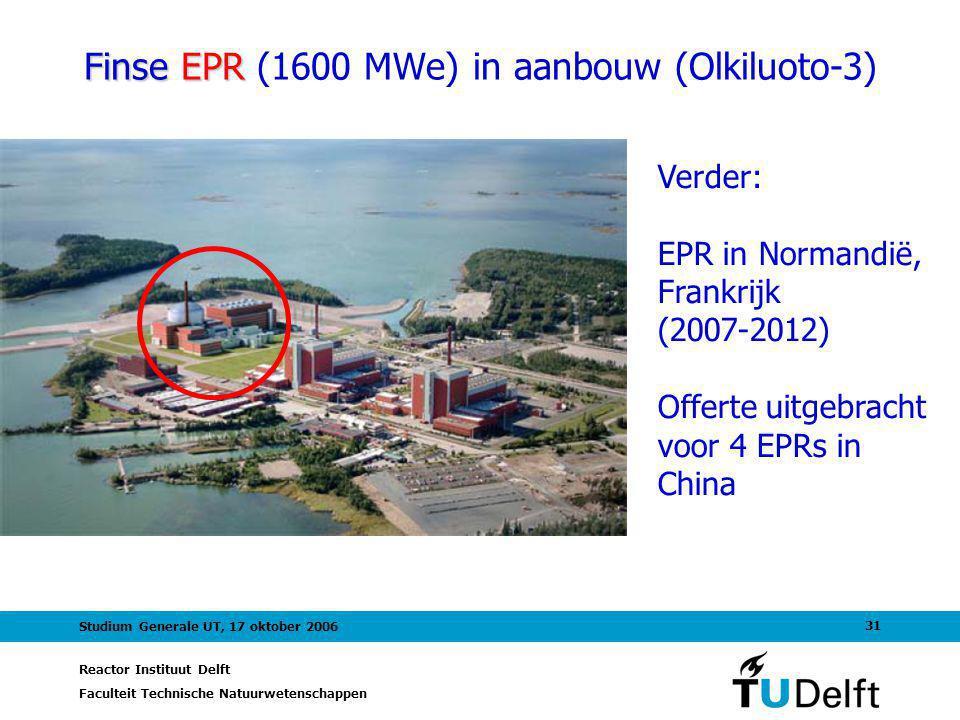 Finse EPR (1600 MWe) in aanbouw (Olkiluoto-3)