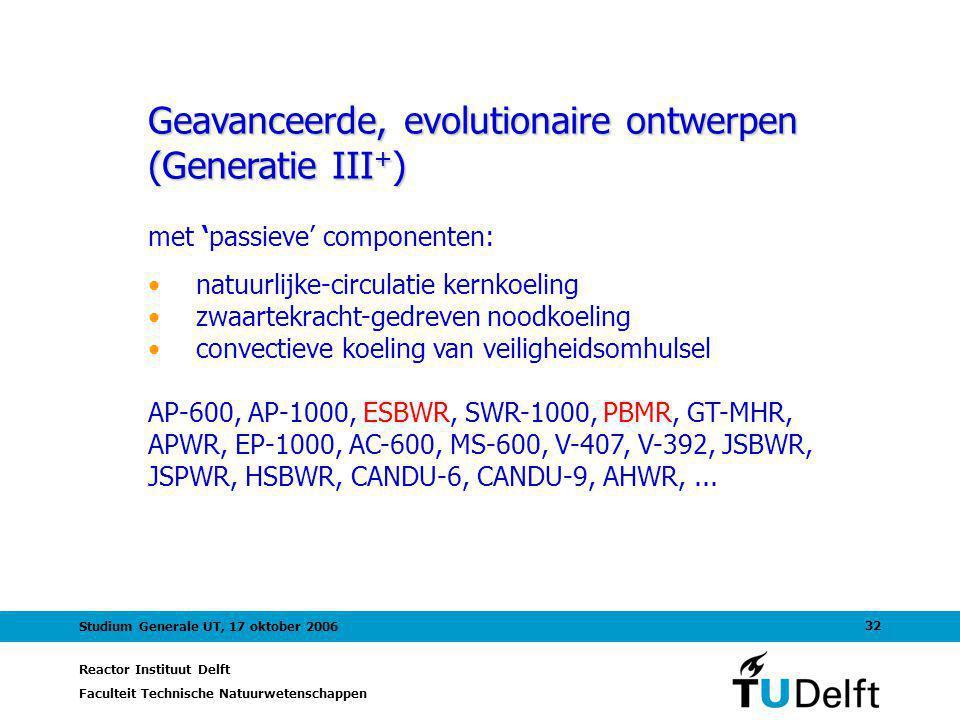 Geavanceerde, evolutionaire ontwerpen (Generatie III+)