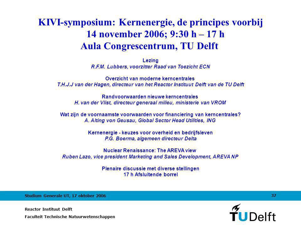 KIVI-symposium: Kernenergie, de principes voorbij