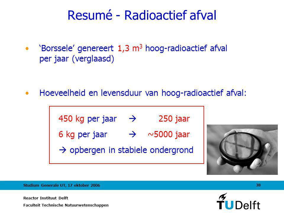 Resumé - Radioactief afval