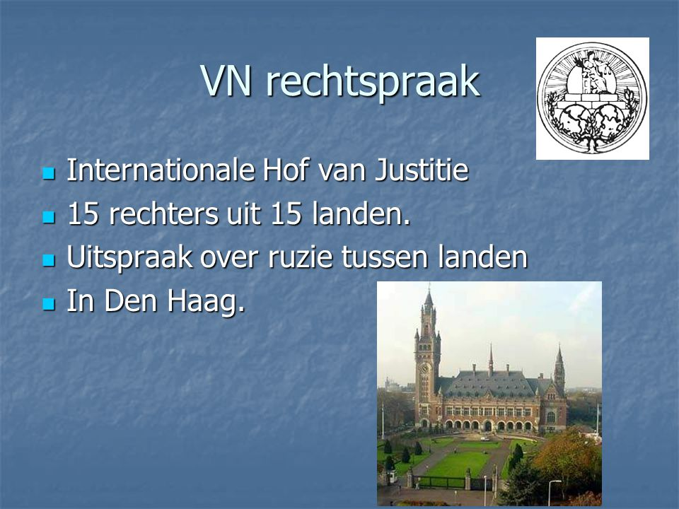VN rechtspraak Internationale Hof van Justitie