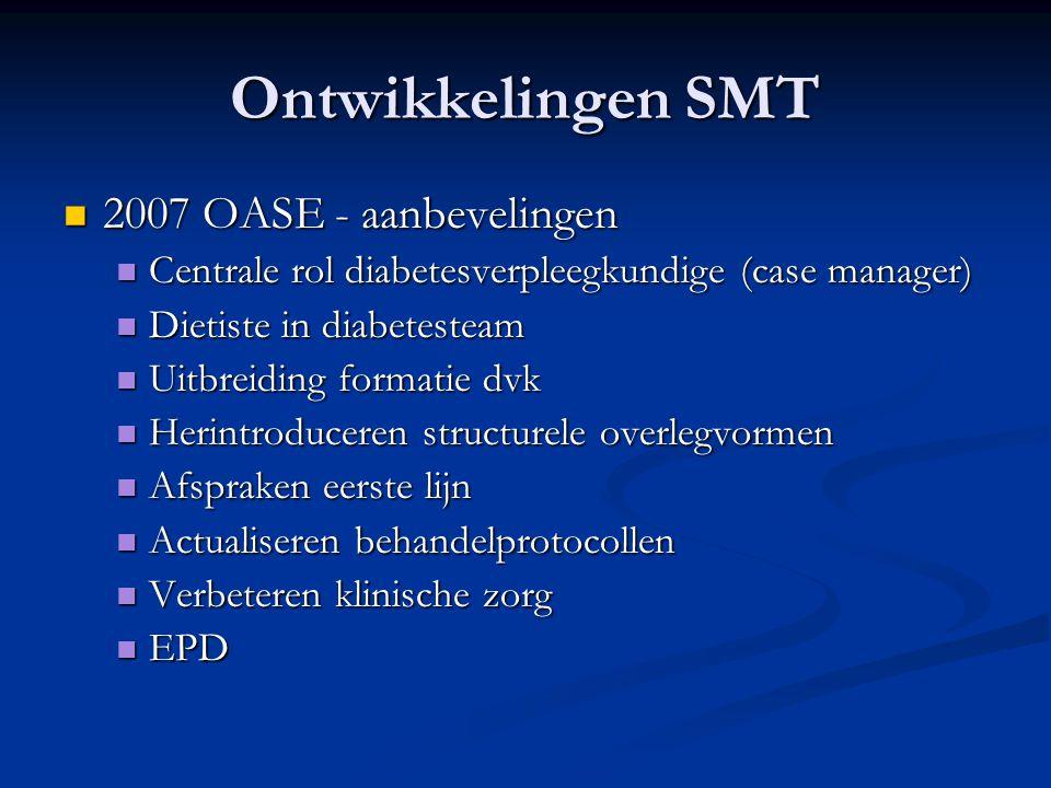 Ontwikkelingen SMT 2007 OASE - aanbevelingen