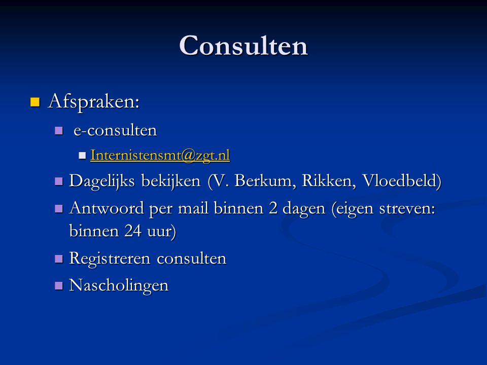 Consulten Afspraken: e-consulten