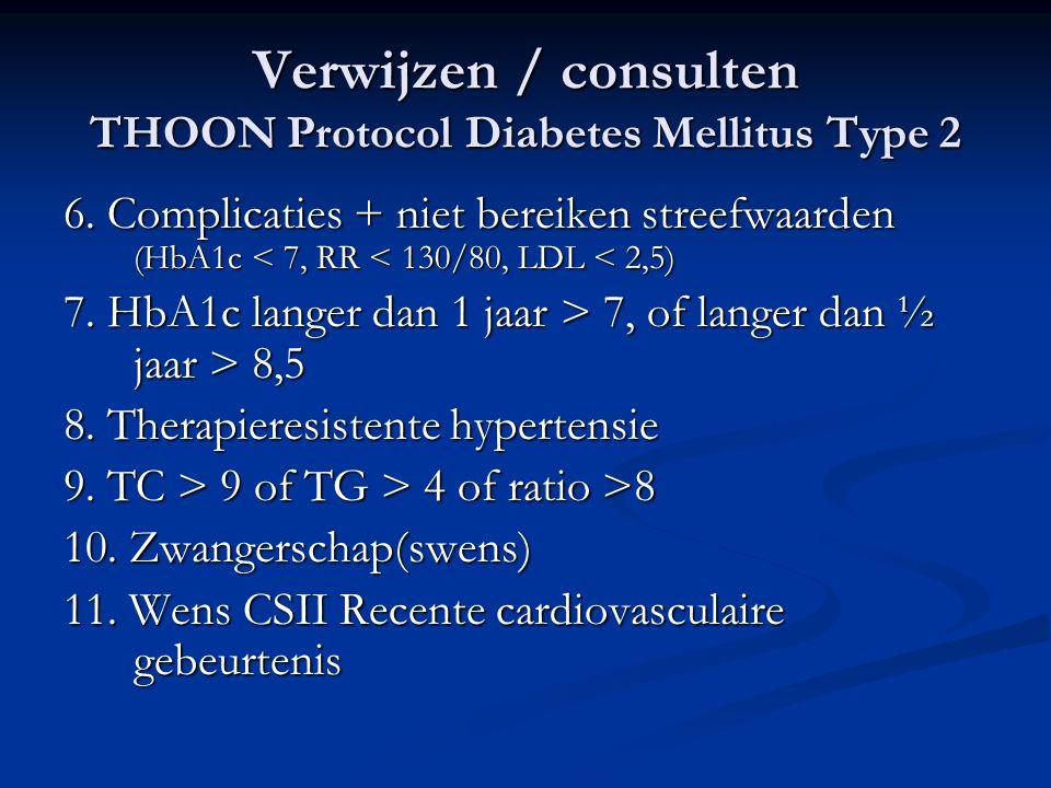 Verwijzen / consulten THOON Protocol Diabetes Mellitus Type 2