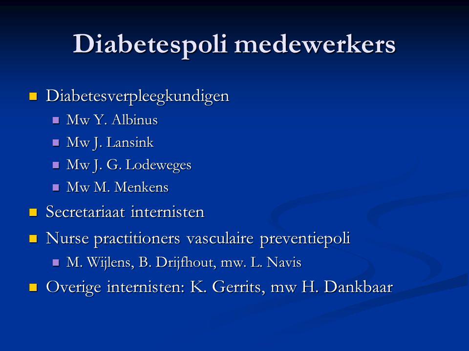 Diabetespoli medewerkers