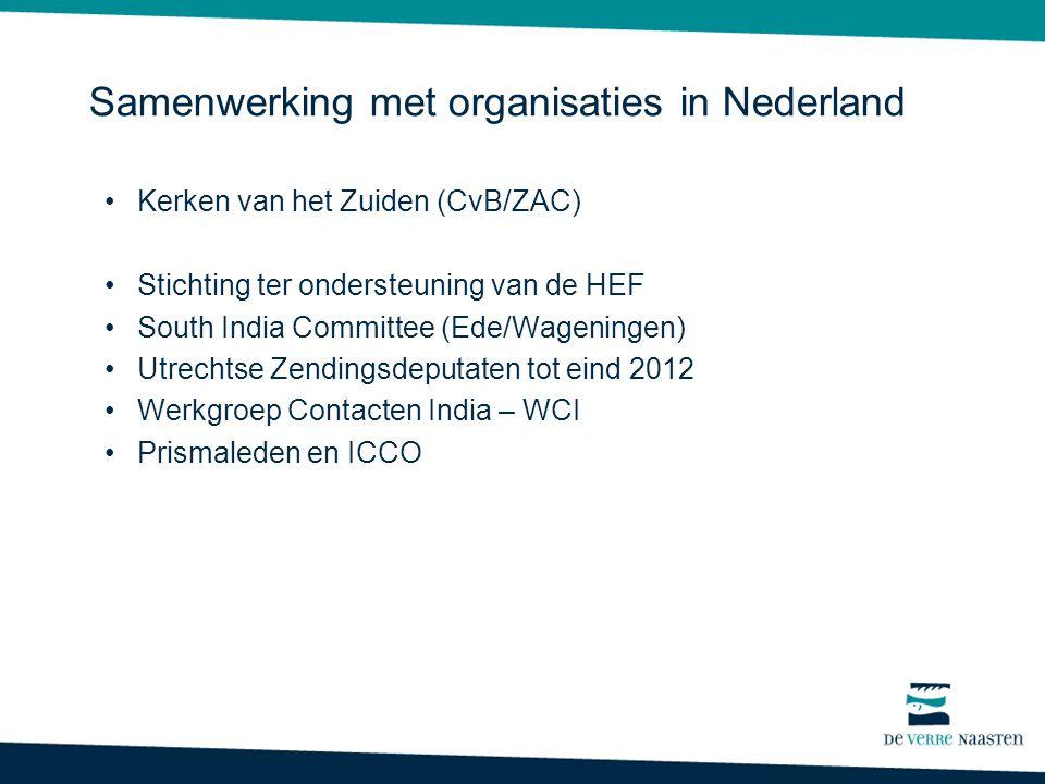 Samenwerking met organisaties in Nederland