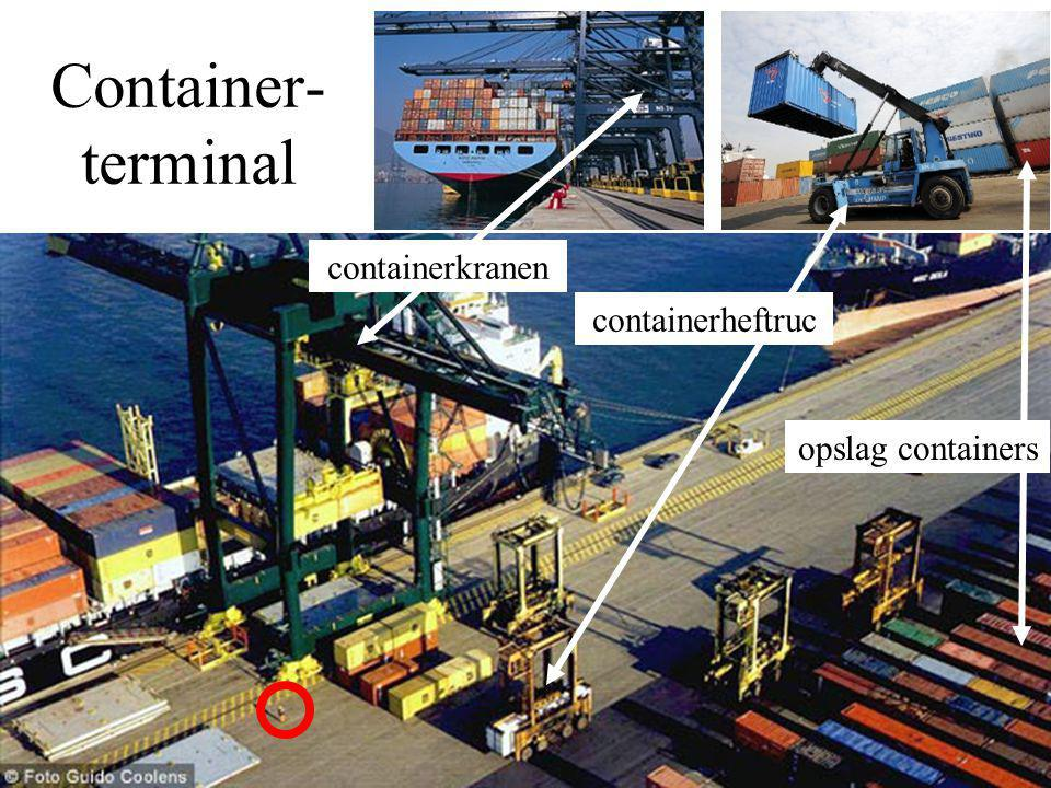 Container- terminal containerkranen containerheftruc opslag containers