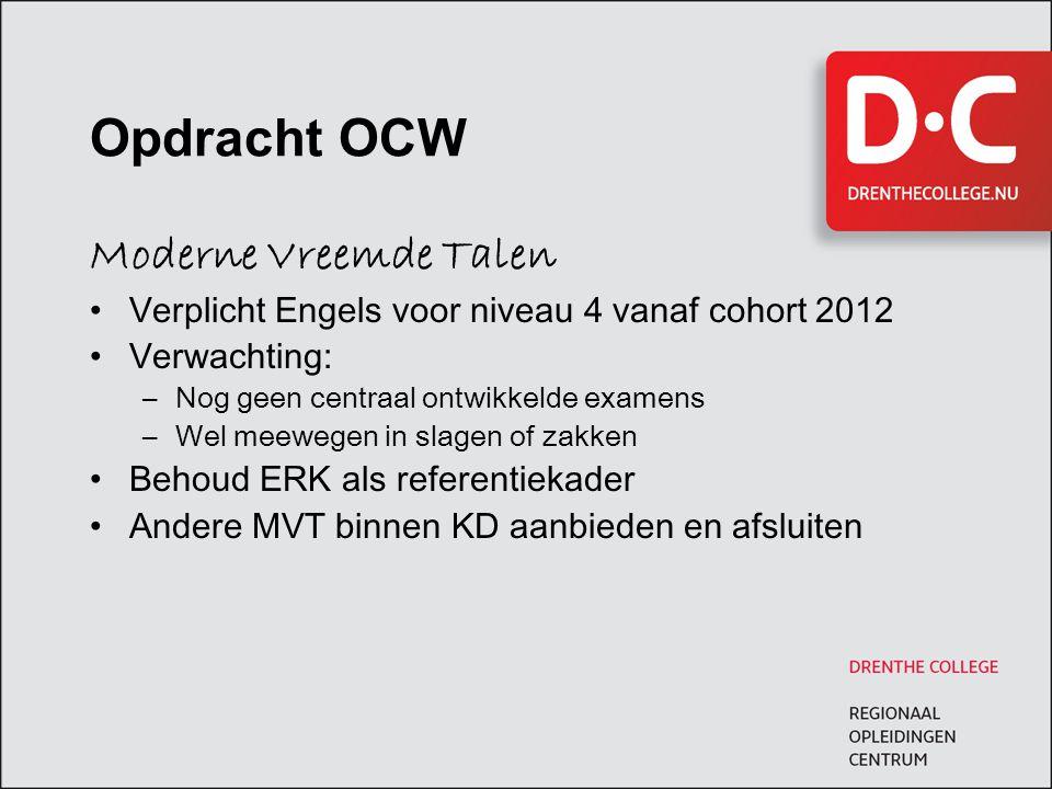 Opdracht OCW Moderne Vreemde Talen
