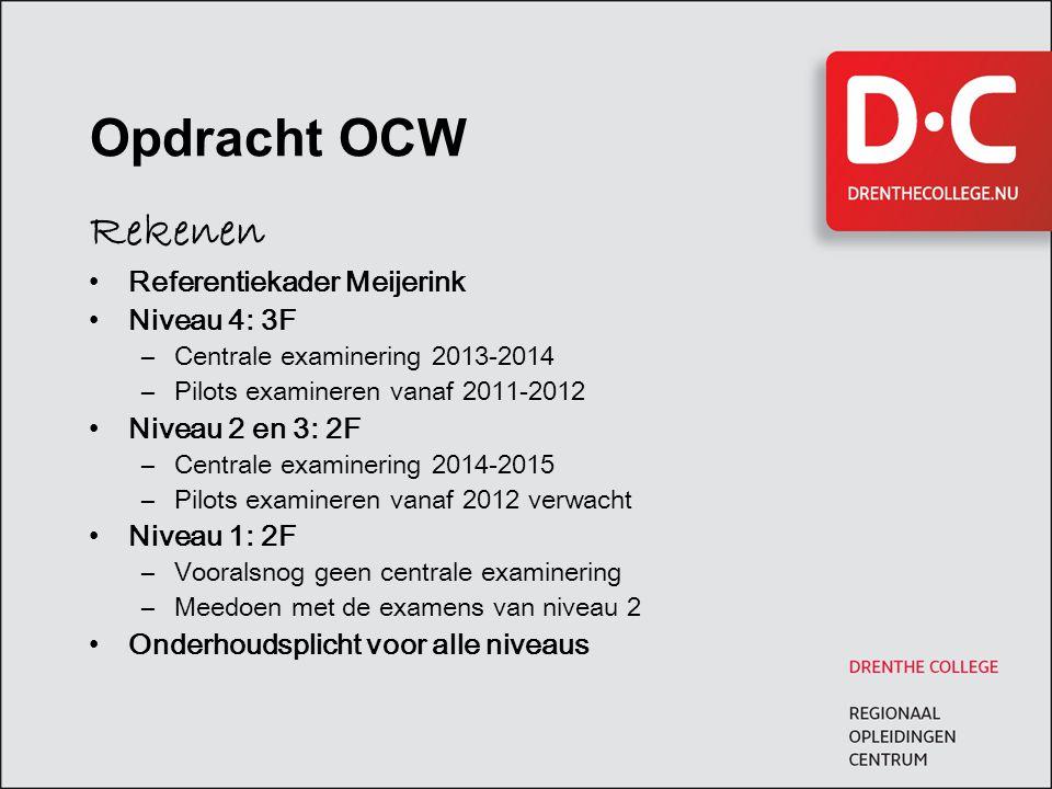 Opdracht OCW Rekenen Referentiekader Meijerink Niveau 4: 3F