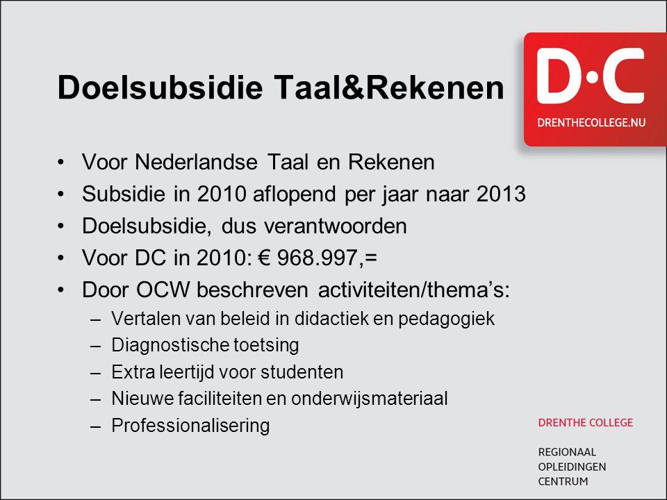 Doelsubsidie Taal&Rekenen