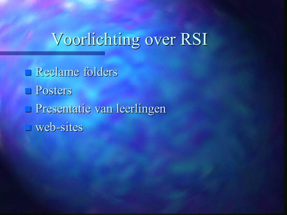 Voorlichting over RSI Reclame folders Posters