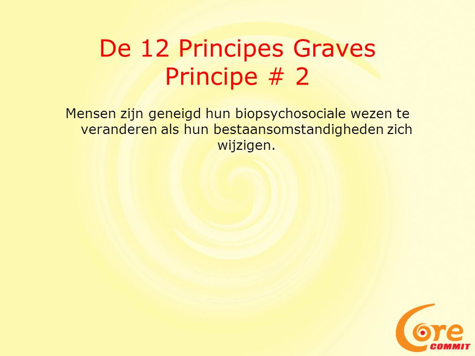 De 12 Principes Graves Principe # 2
