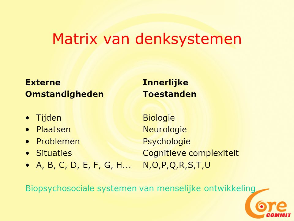Matrix van denksystemen