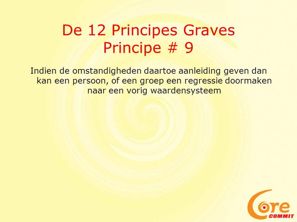 De 12 Principes Graves Principe # 9