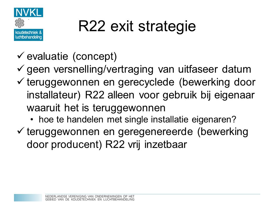 R22 exit strategie evaluatie (concept)
