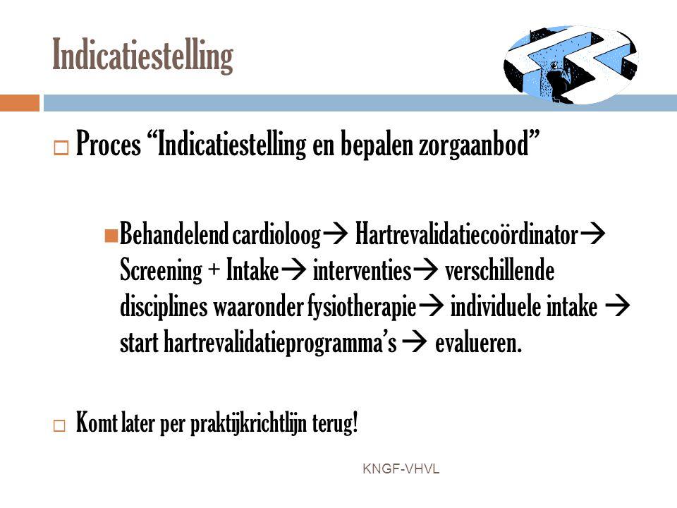 Indicatiestelling Proces Indicatiestelling en bepalen zorgaanbod
