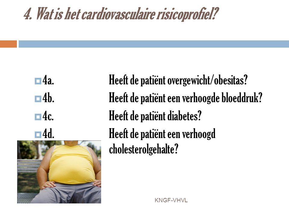 4. Wat is het cardiovasculaire risicoprofiel