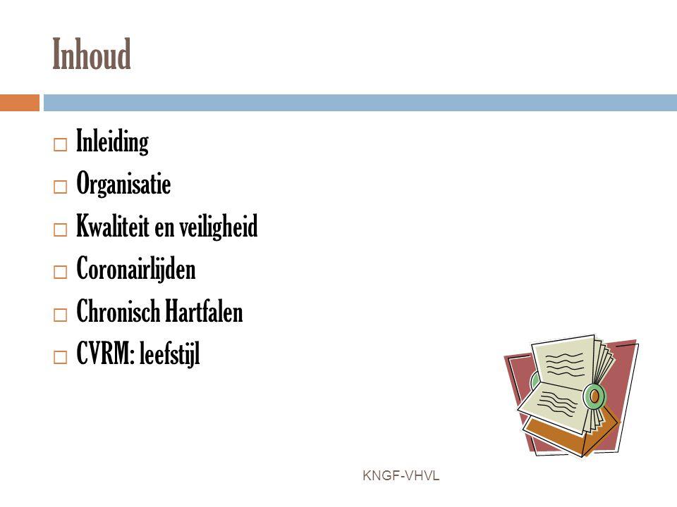 Inhoud Inleiding Organisatie Kwaliteit en veiligheid Coronairlijden
