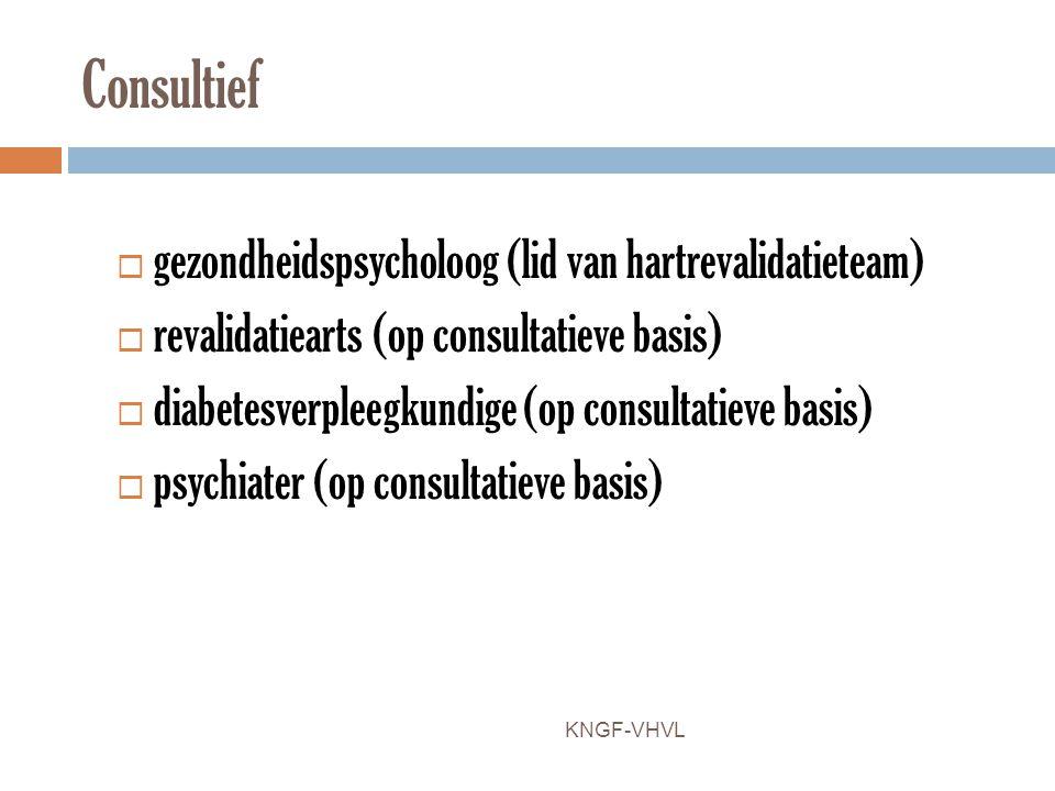 Consultief gezondheidspsycholoog (lid van hartrevalidatieteam)