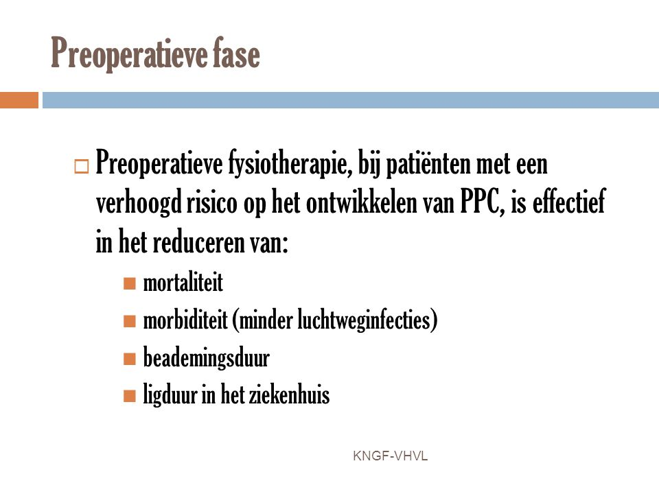 Preoperatieve fase