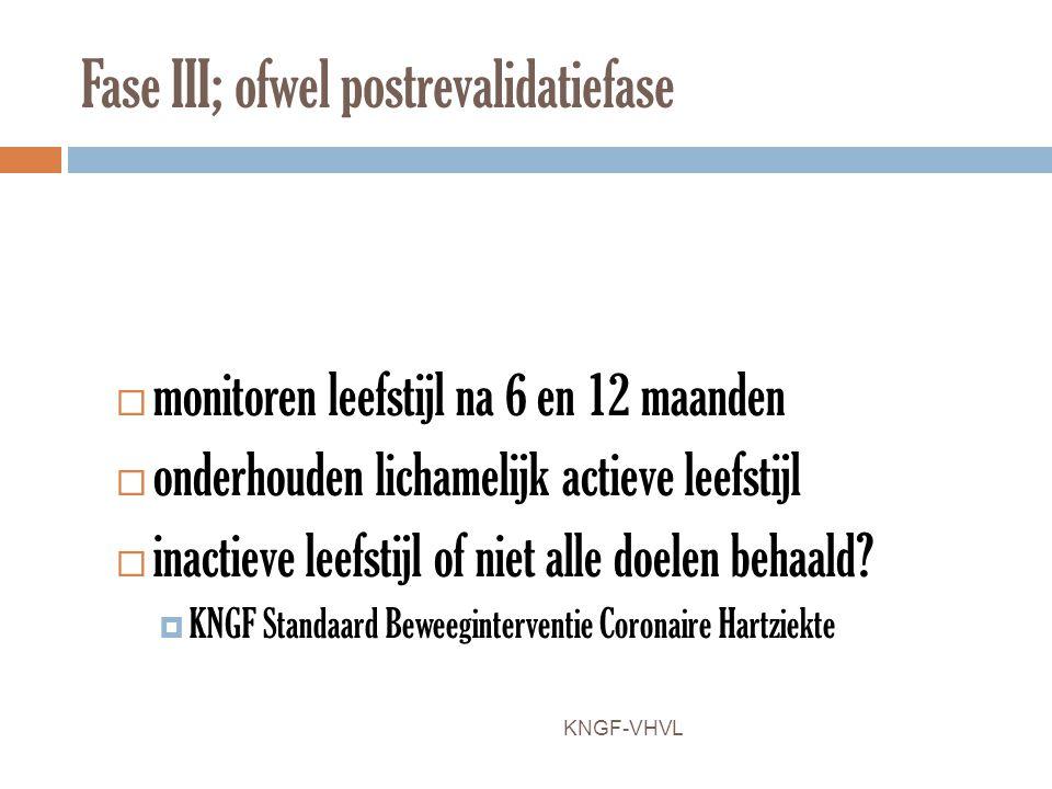 Fase III; ofwel postrevalidatiefase