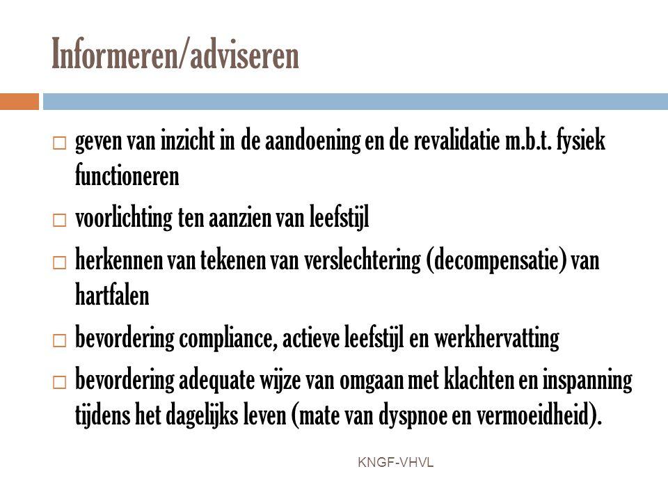 Informeren/adviseren