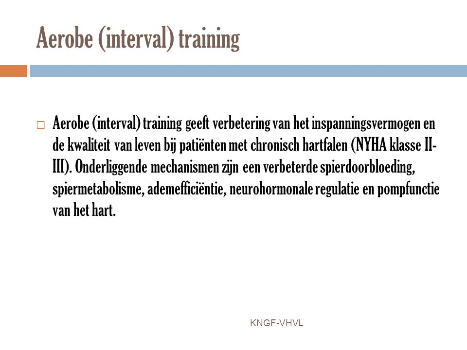 Aerobe (interval) training