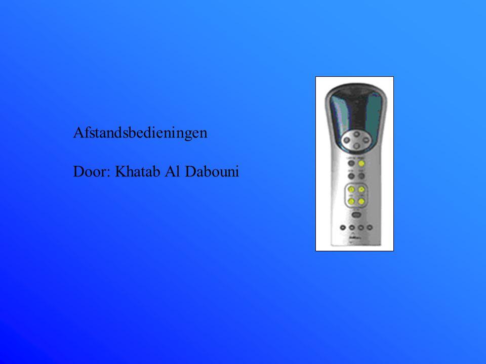 Afstandsbedieningen Door: Khatab Al Dabouni
