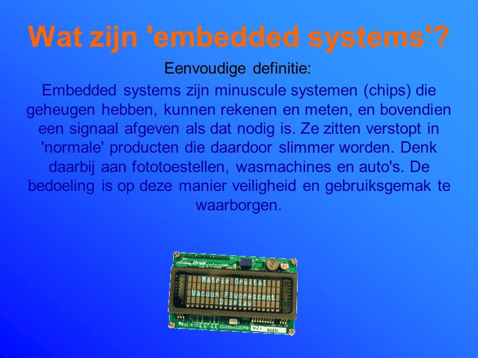 Wat zijn embedded systems