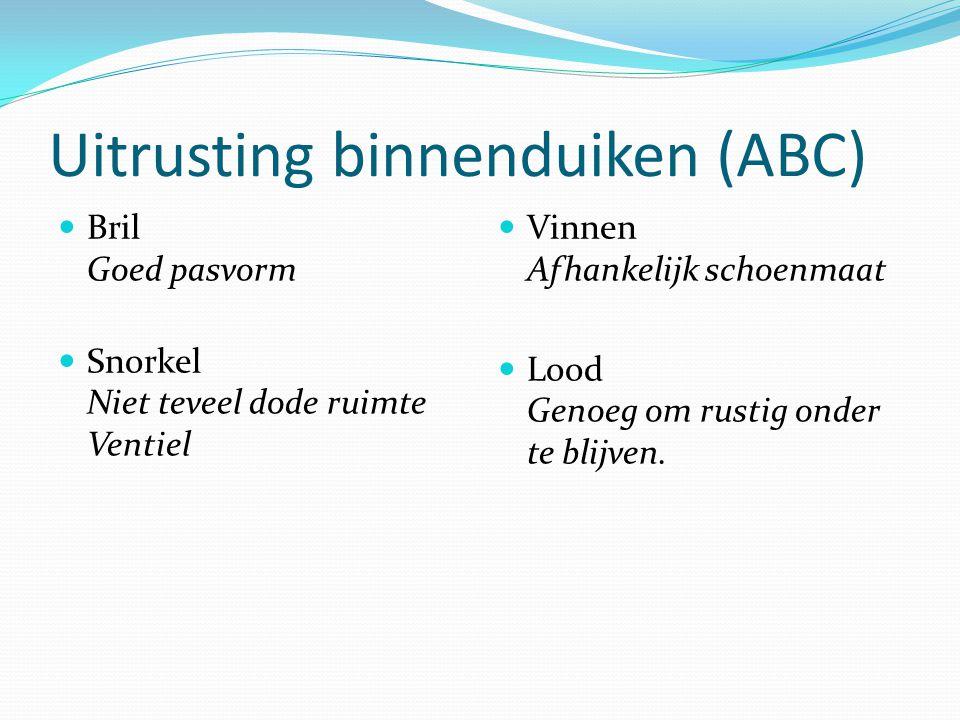 Uitrusting binnenduiken (ABC)