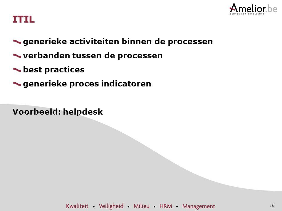 ITIL generieke activiteiten binnen de processen