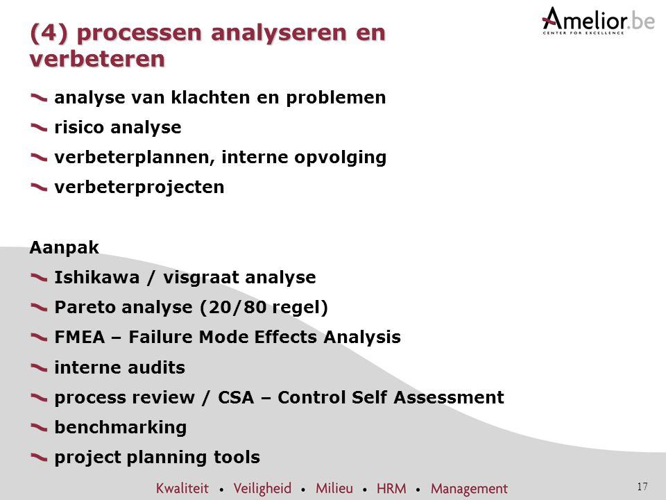 (4) processen analyseren en verbeteren