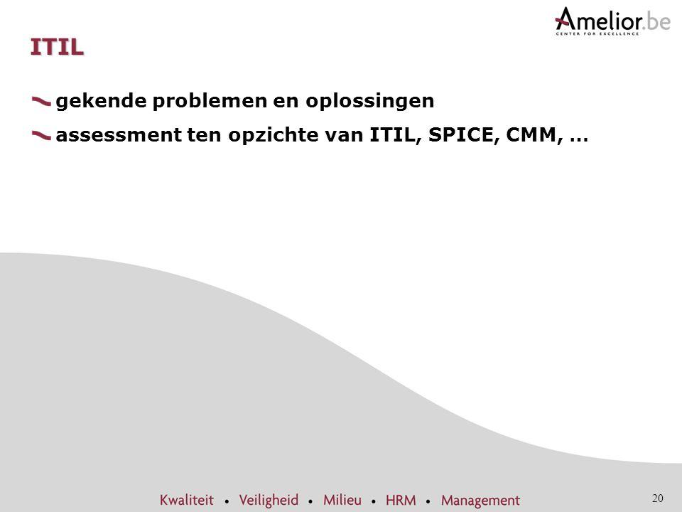 ITIL gekende problemen en oplossingen