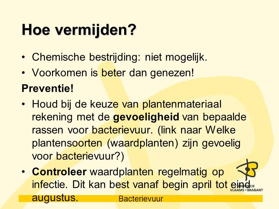 Hoe vermijden Chemische bestrijding: niet mogelijk.
