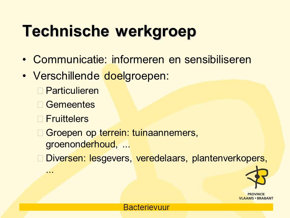 Technische werkgroep Communicatie: informeren en sensibiliseren