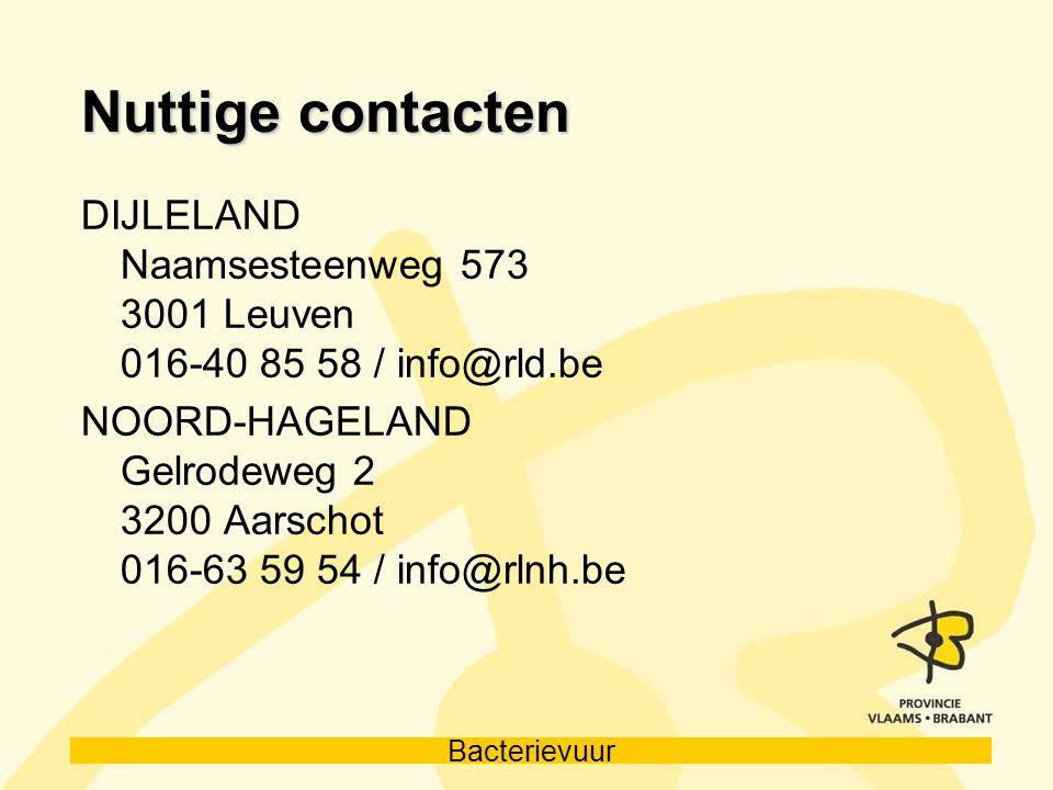 Nuttige contacten DIJLELAND Naamsesteenweg 573 3001 Leuven 016-40 85 58 / info@rld.be.