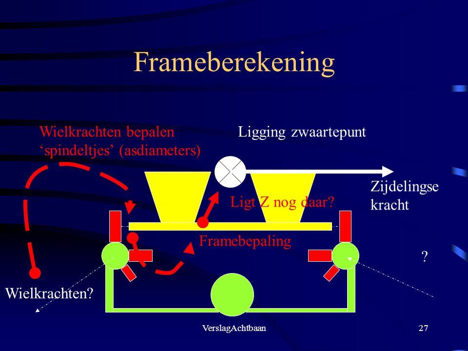 Frameberekening Wielkrachten bepalen 'spindeltjes' (asdiameters)