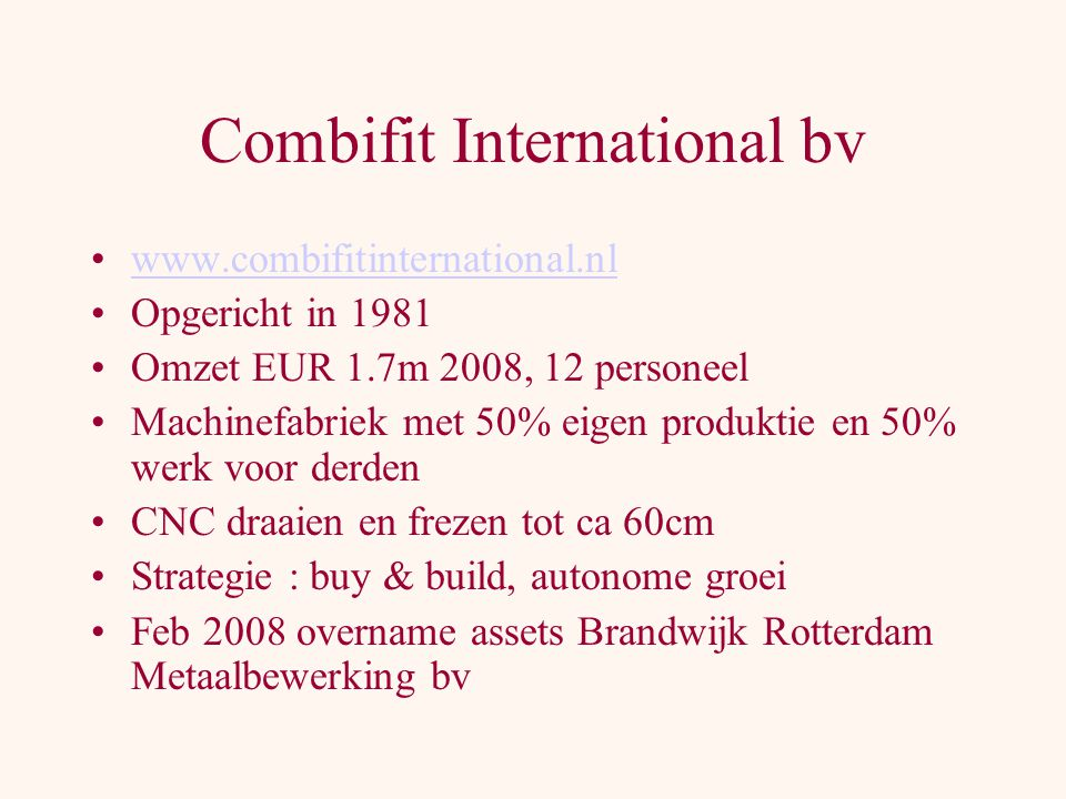 Combifit International bv