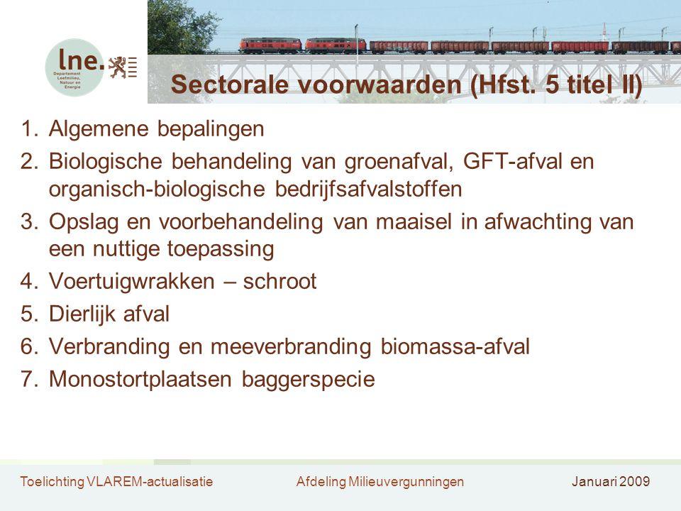 Sectorale voorwaarden (Hfst. 5 titel II)