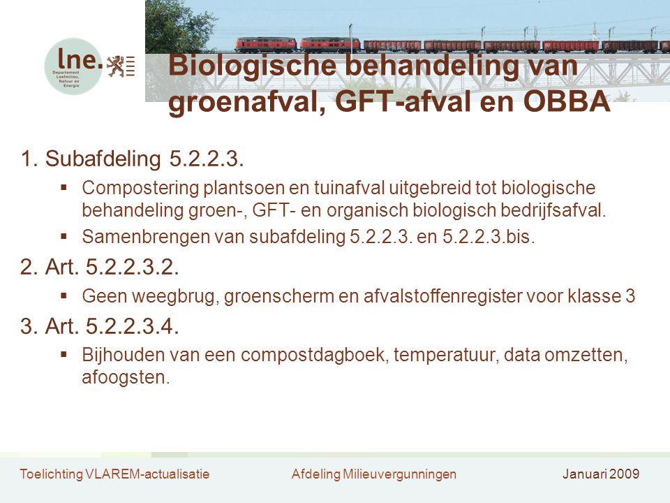 Biologische behandeling van groenafval, GFT-afval en OBBA