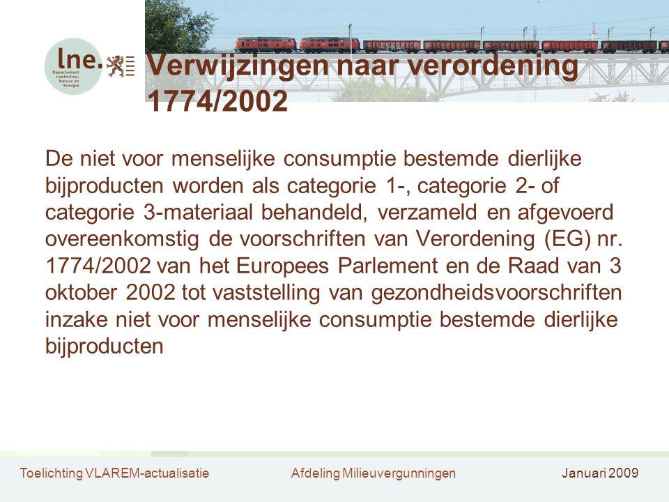 Verwijzingen naar verordening 1774/2002