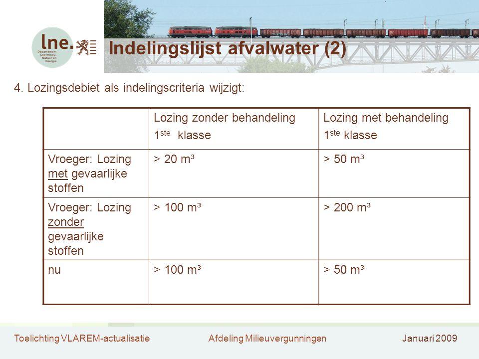 Indelingslijst afvalwater (2)