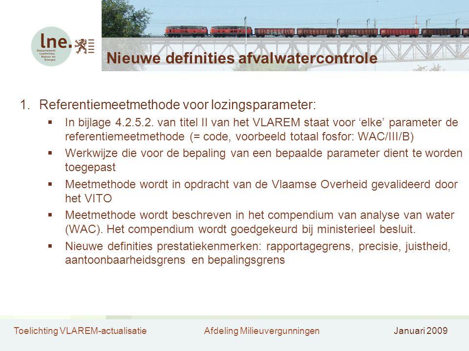 Nieuwe definities afvalwatercontrole