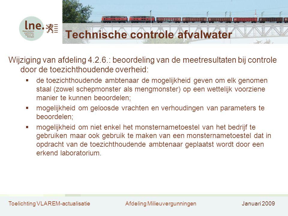 Technische controle afvalwater
