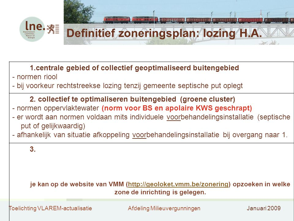 Definitief zoneringsplan: lozing H.A.